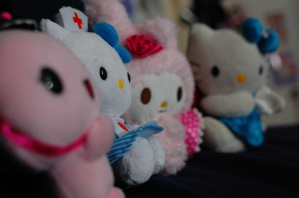 Day 154 - Plushies in a row.